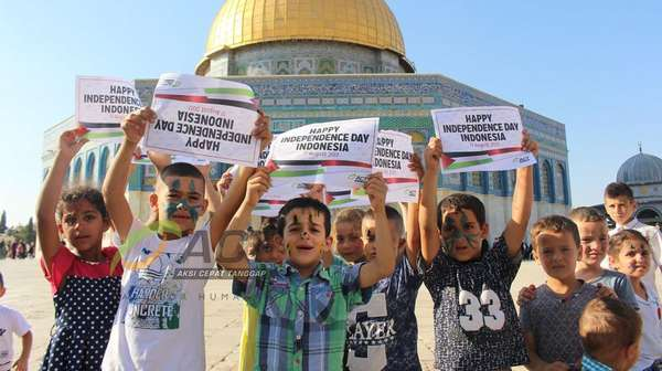 Doa Anak-anak Palestina di Hari Kemerdekaan Indonesia ke-72