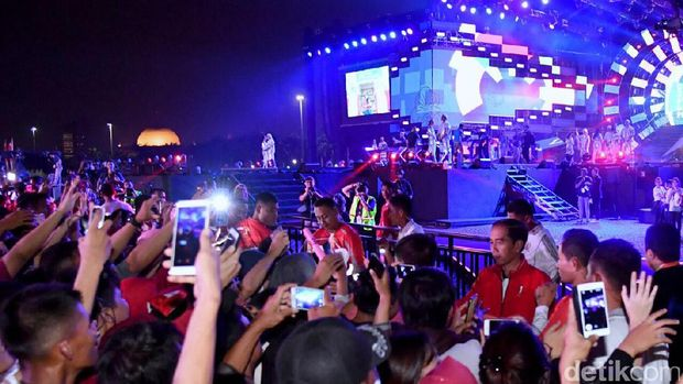 Jokowi di acara countdown Asian Games 2018.