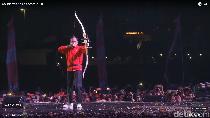 Ala Robin Hood, Begini Gaya Jokowi Resmikan Countdown Asian Games