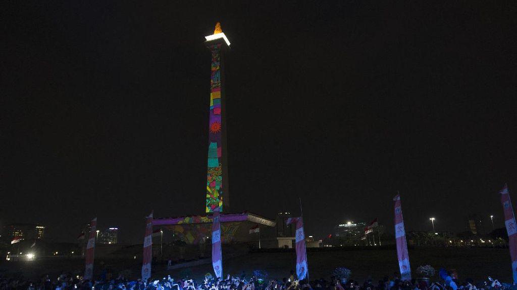 Kemeriahan Pesta Countdown Asian Games 2018 di Jakarta dan Palembang