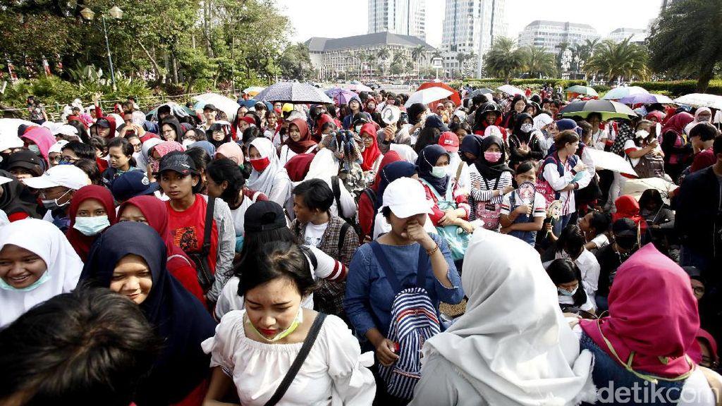 Suasana Monas Hari Ini Jelang Countdown Asian Games