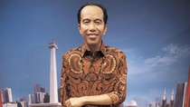 Patung Jokowi di Antara Monas, Masjid Istiqlal dan Gereja Katedral