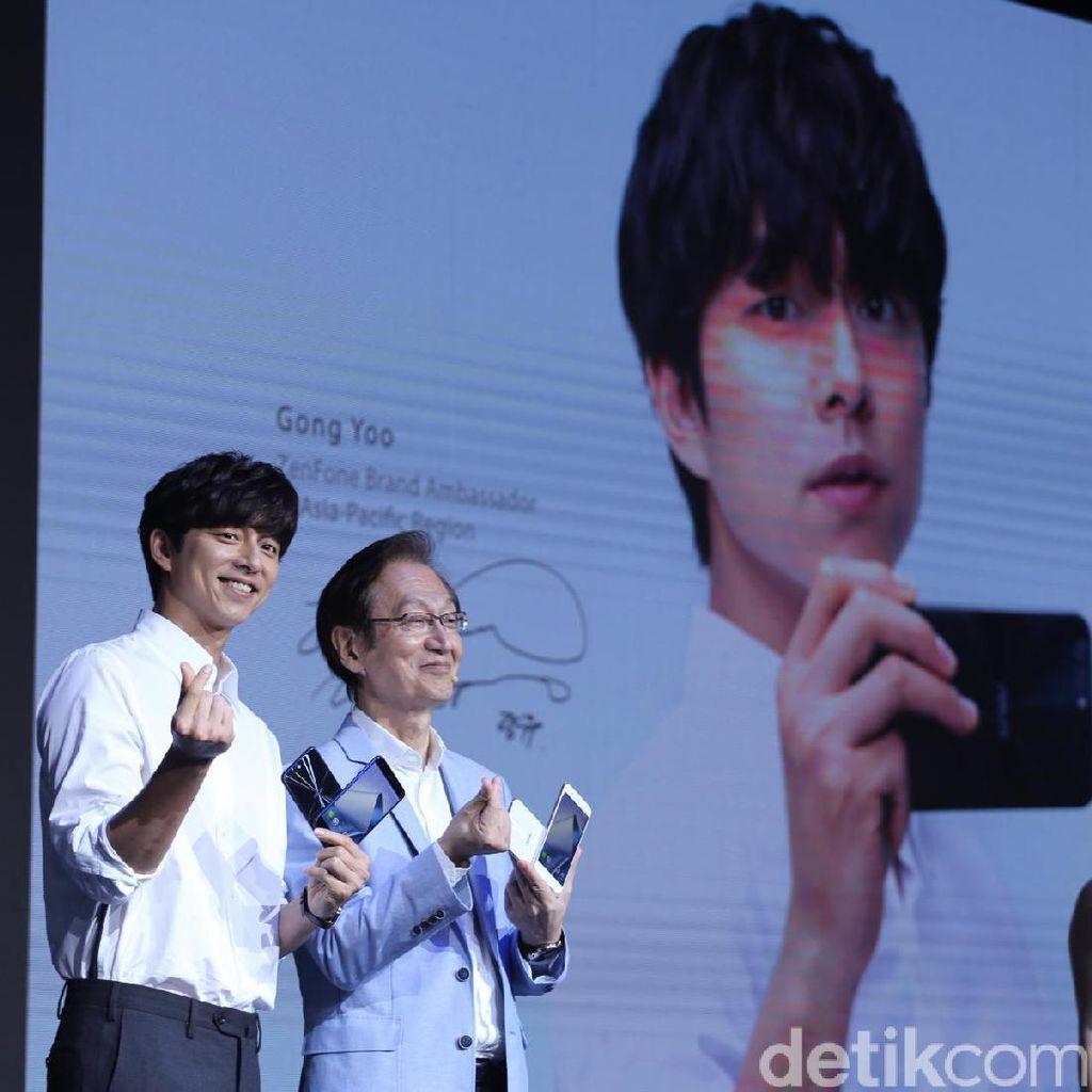 Sapa Penggemar, Gong Yoo Keluarkan Jurus Andalan di Peluncuran Zenfone 4