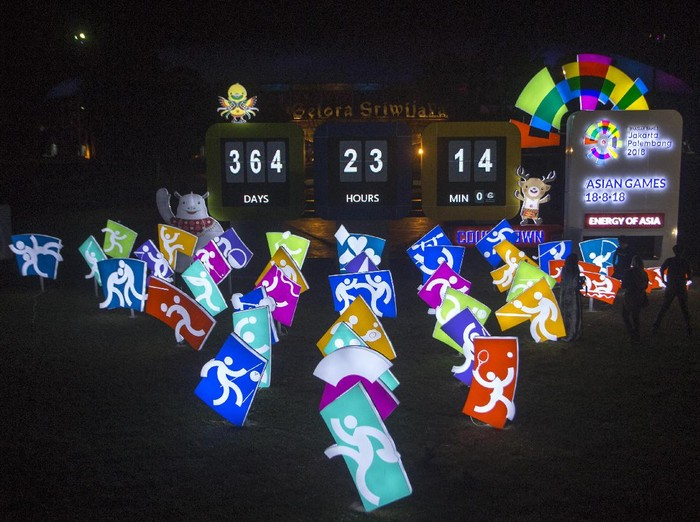 Countdown Asian Games 2018. Foto: Nova Wahyudi/Antara Foto