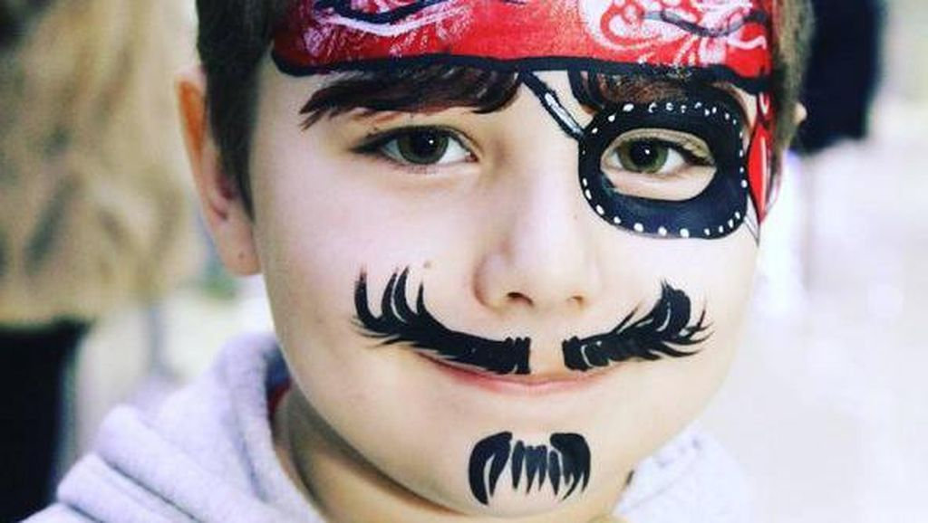 Foto: Saat Wajah Anak-anak Dilukis, Mana yang Paling Lucu?