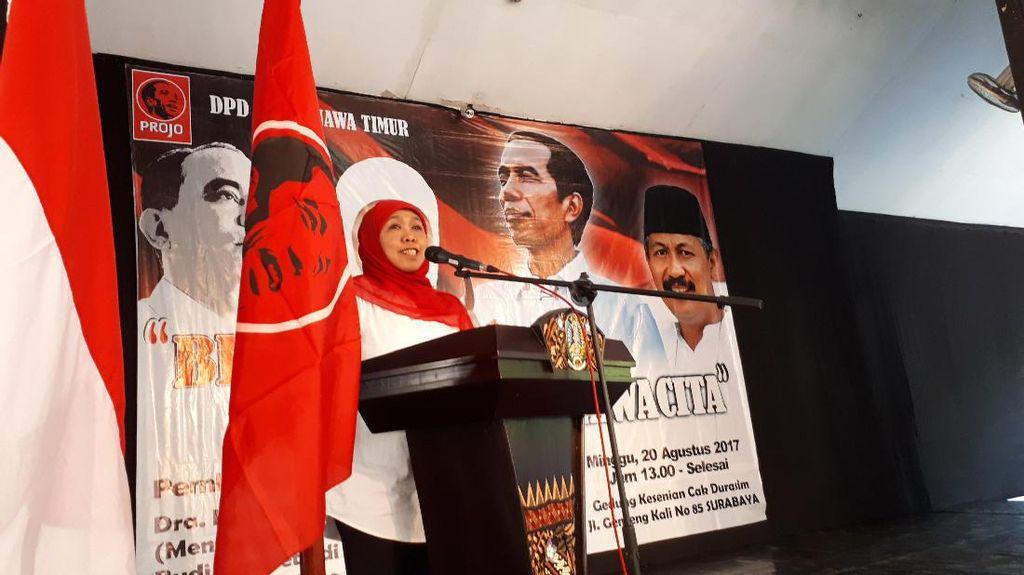 Didukung Projo untuk Pilgub Jatim, Khofifah Akan Laporan ke Jokowi