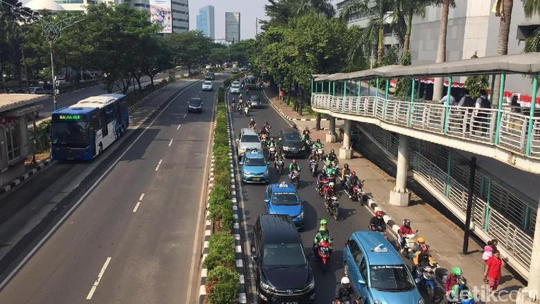 Jeritan Pemotor Soal Pembatasan Motor di Jalan Protokol