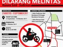 Larangan Sepeda Motor di Jalan Protokol