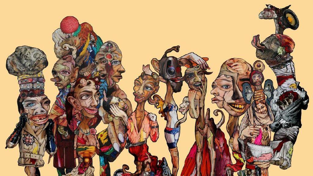 Seniman Nandanggawe Gelar Pameran Seri Kolase Sirkus di Bandung