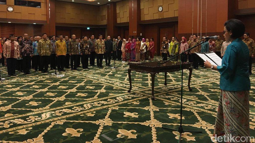 Sri Mulyani Lantik 37 Pejabat Kementerian Keuangan Sekaligus