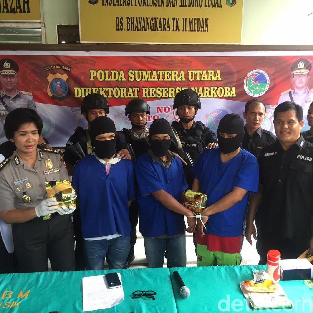 3 Bandar Sabu Lintas Negara Ditangkap di Medan, 1 Orang Tewas