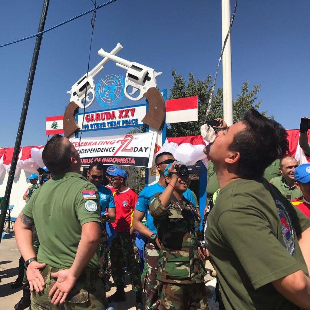 Serunya Lomba 17-an Prajurit TNI dengan Peacekeeper di Lebanon