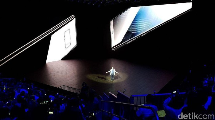 Peluncuran Galaxy Note 8 di New York (Achmad Rouzni Noor II/detikINET)