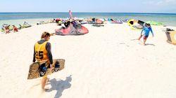 13 Negara Ikuti Kompetisi Kite and Wind Surfing di Pulau Tabuhan