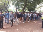 48 Supeltas Dilatih Baris-Berbaris di Lapangan Banteng