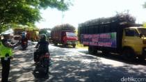 Tolak PPN Gula, Ratusan Truk Pengangkut Tebu Parkir di Pinggir Jalan