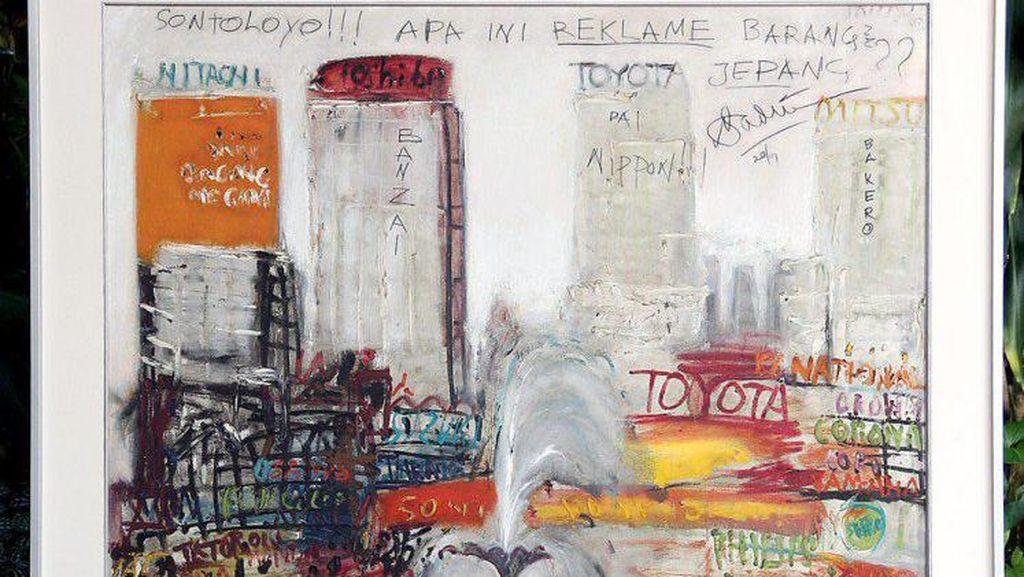 Lukisan 44 Tahun yang Lalu Karya Srihadi Soedarsono Dipamerkan di Jakarta