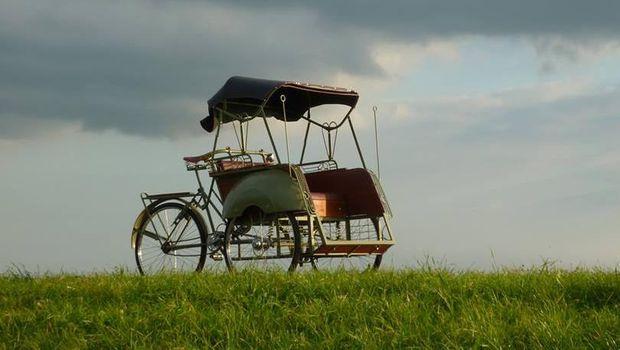 Becaknya asli dari Yogya (Becak Amsterdam/Facebook)