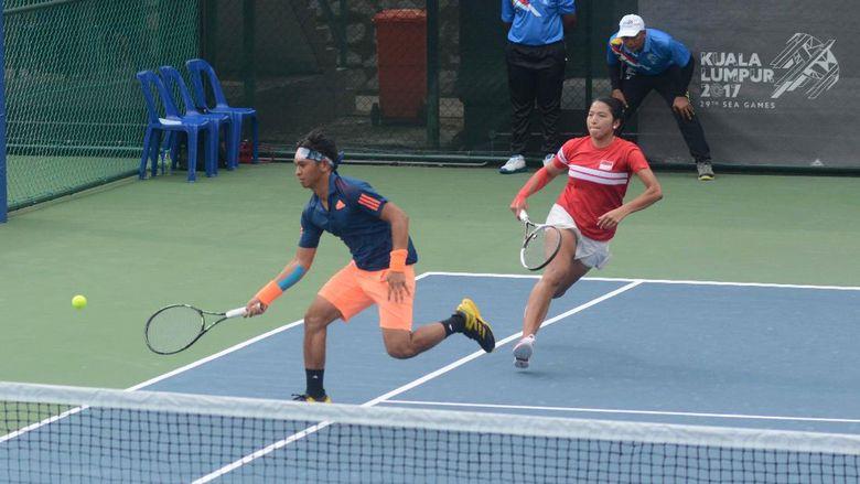 Christopher Rungkat/Jessy Rompies Lolos Final Tenis Ganda Campuran
