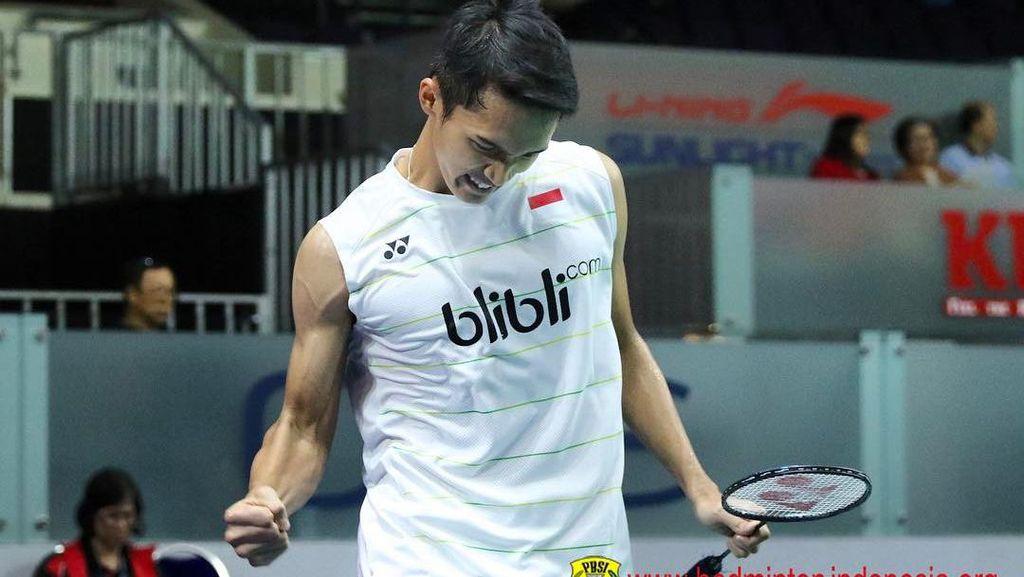 Lengan Kekar Jonatan Christie, Atlet Bulutangkis Indonesia