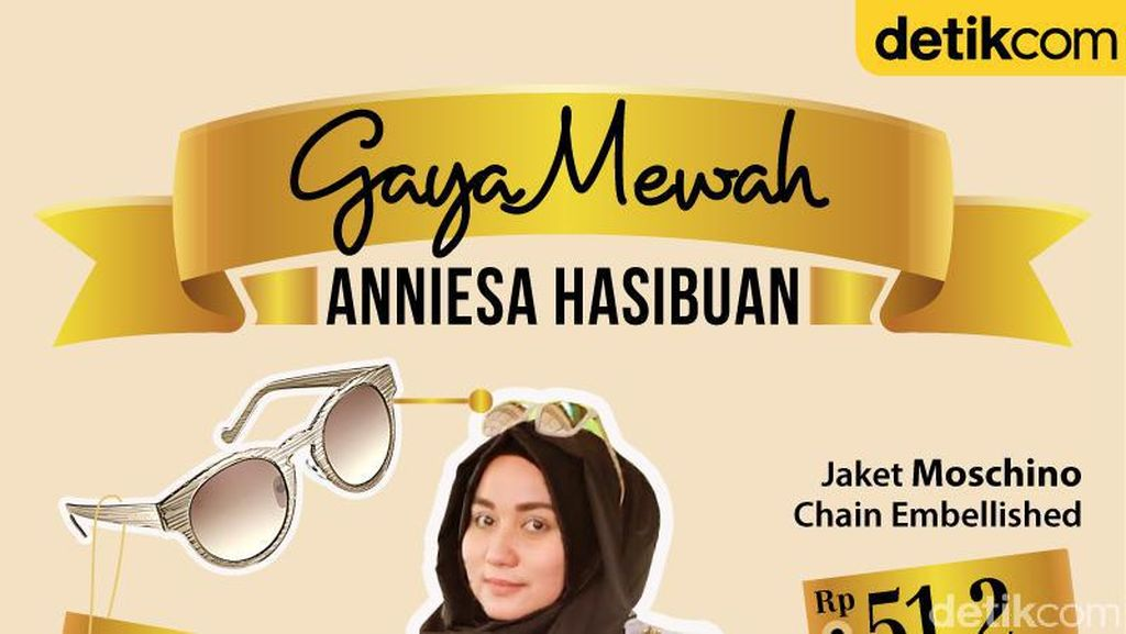 Infografis: Gaya Mewah Anniesa Hasibuan From Head to Toe