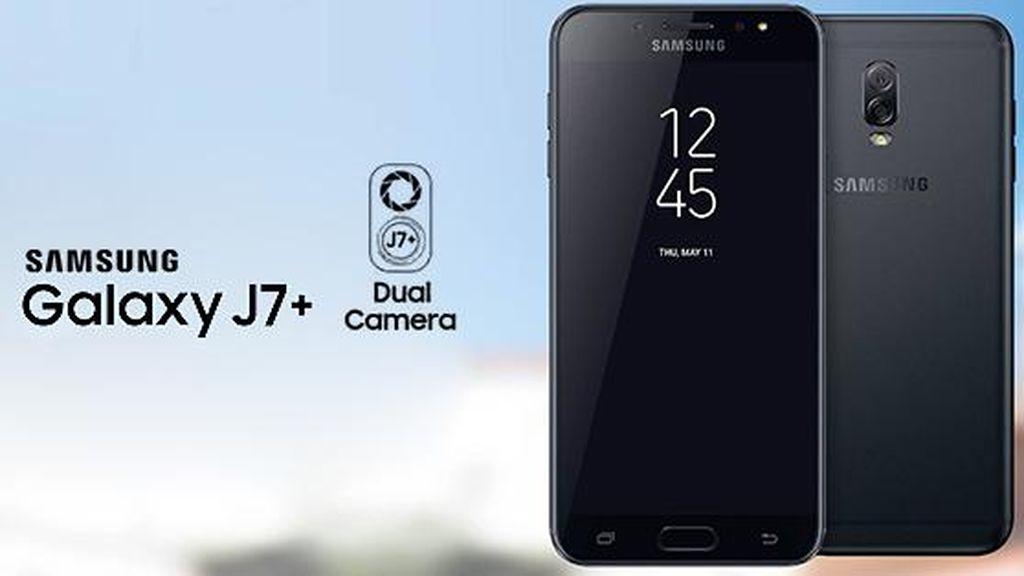 Ponsel Kamera Ganda Galaxy J7+ Mendarat di Indonesia