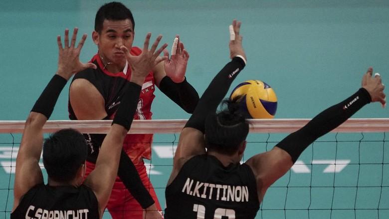 Tim Putra Voli Juga Dapat Perak Usai Kalah dari Thailand