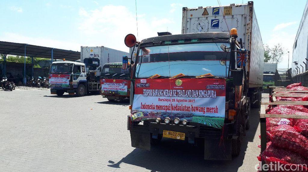 Foto: Giliran Bawang Merah RI Tembus Thailand dan Singapura