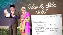 Coretan Tangan Istri JK di Hari Jadi Pernikahan Ke-50