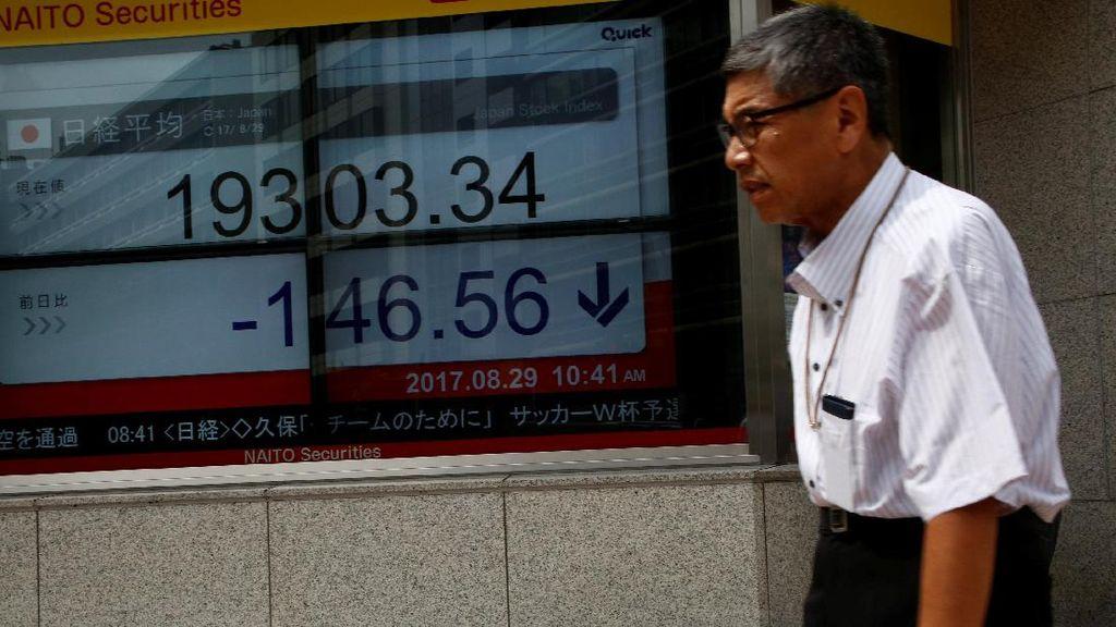 Foto: Bursa Saham Tokyo Dirudal Korut