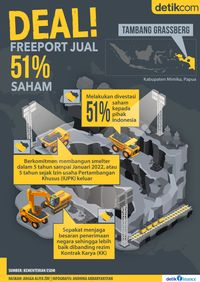 <i>Deal</i>! Freeport Mau Jual 51% Saham