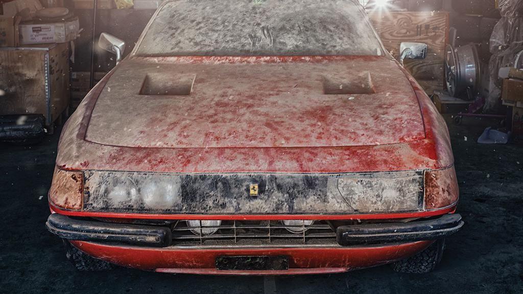 Ferrari Ini Disimpan Hingga Lusuh di Gudang