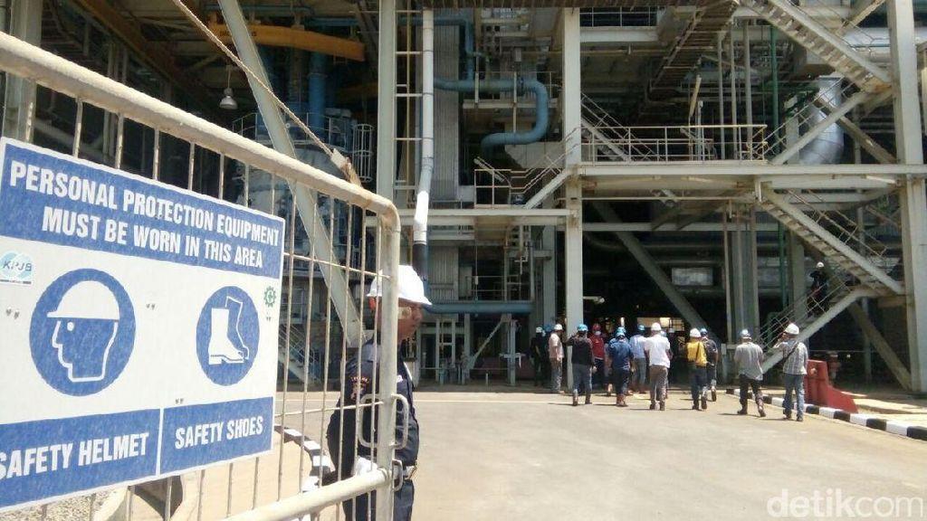 Limbah Batu Kapur PLTU Tanjung Jati B Jadi Bahan Campuran Material Bangunan