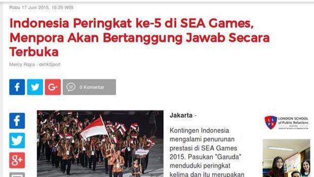 Pernyataan Menpora Imam usai kegagalan Indoensia di SEA Games 2017 Kuala Lumpur.