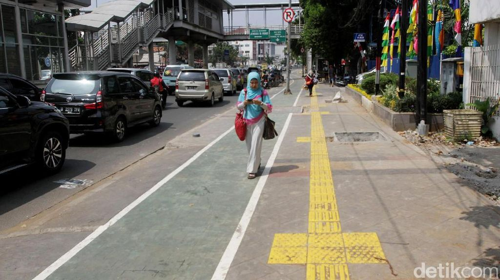 Trotoar di Monas dan Sudirman akan Diperlebar Akhir September