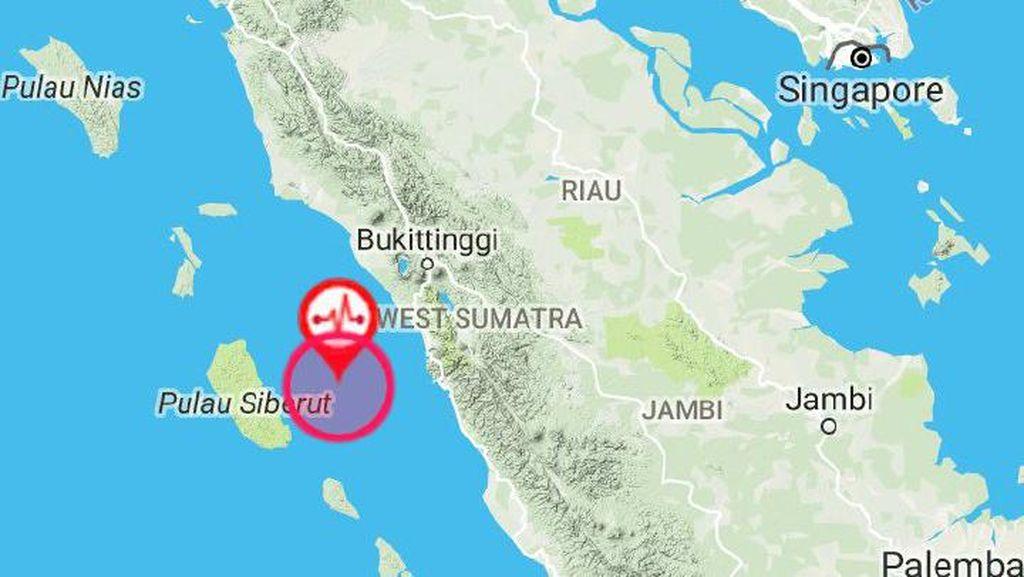 Gempa 6,2 SR Guncang Kepulauan Mentawai Sumbar