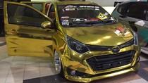 Mewahnya Daihatsu Sigra Berbalut Emas