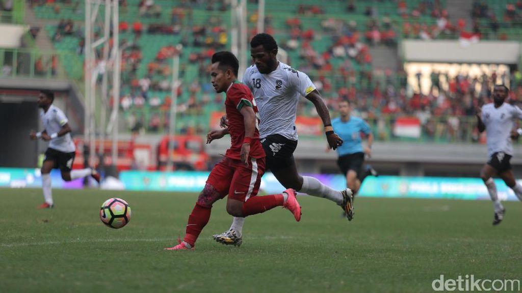 Skor Kacamata di Laga Indonesia vs Fiji