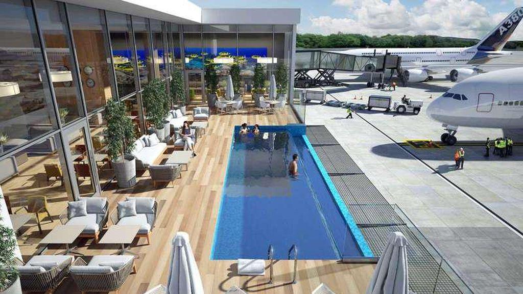Bandara Ini Bakal Punya Kolam Renang, Pemandangannya Pesawat Parkir