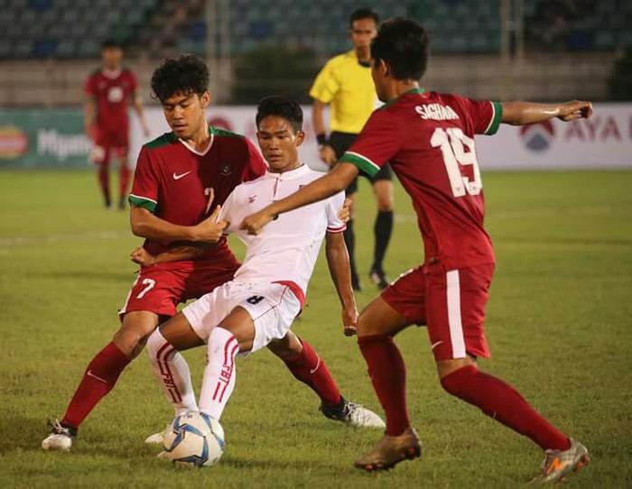 Indonesia vs Myanmar. Foto: Humas PSSI