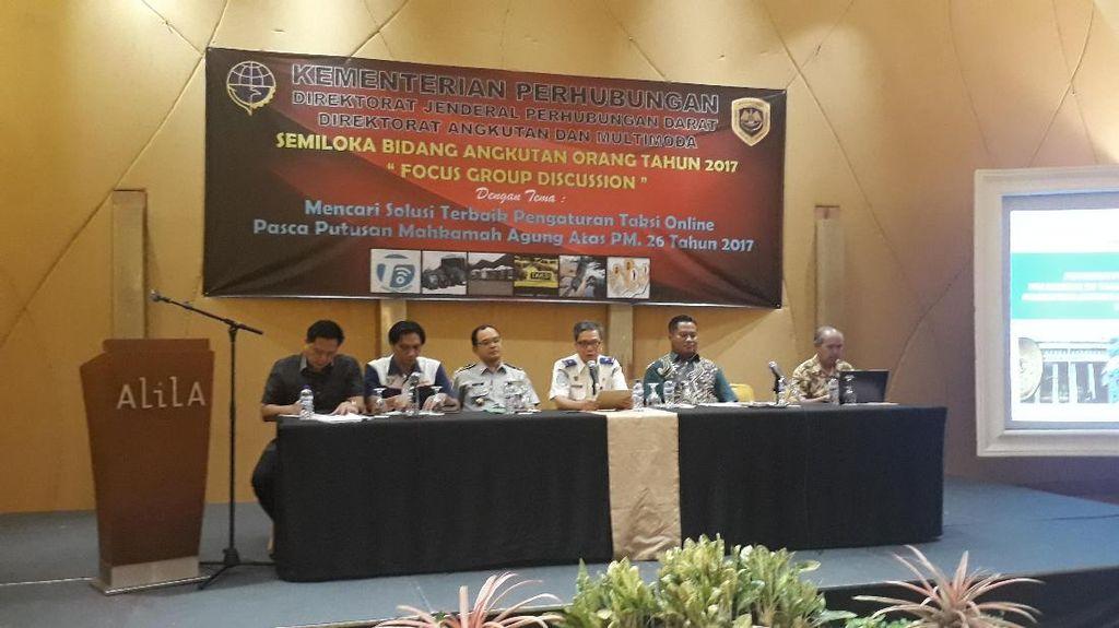 Kemenhub Undang Organda hingga Koperasi Taksi Online Bahas Putusan MA