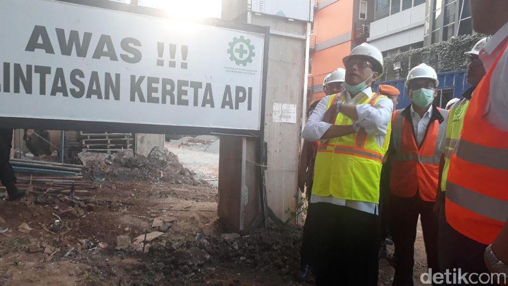 Menhub Pantau Jalur Kereta Bandara Soekarno-Hatta