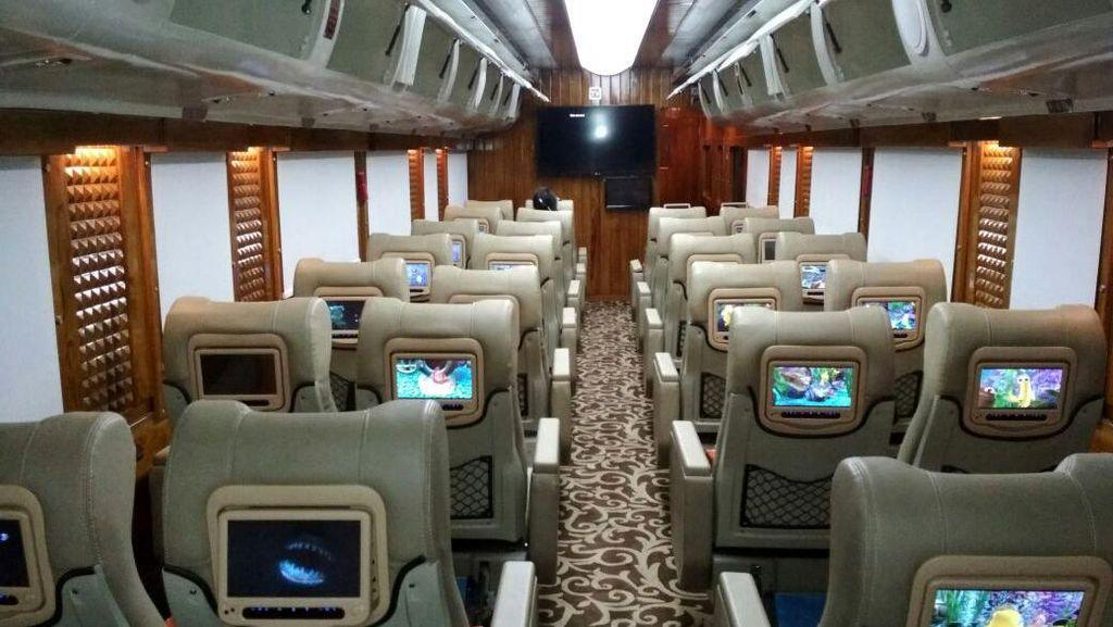 Foto: Mewahnya Gerbong Kereta Pariwisata Jakarta-Surabaya
