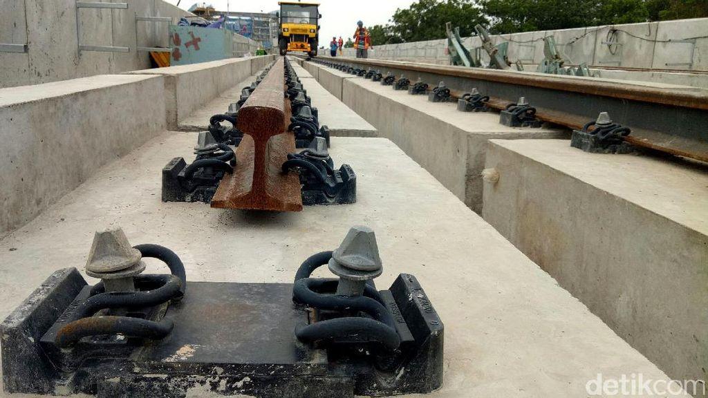 Foto: Mantap, LRT Palembang Maju Pesat