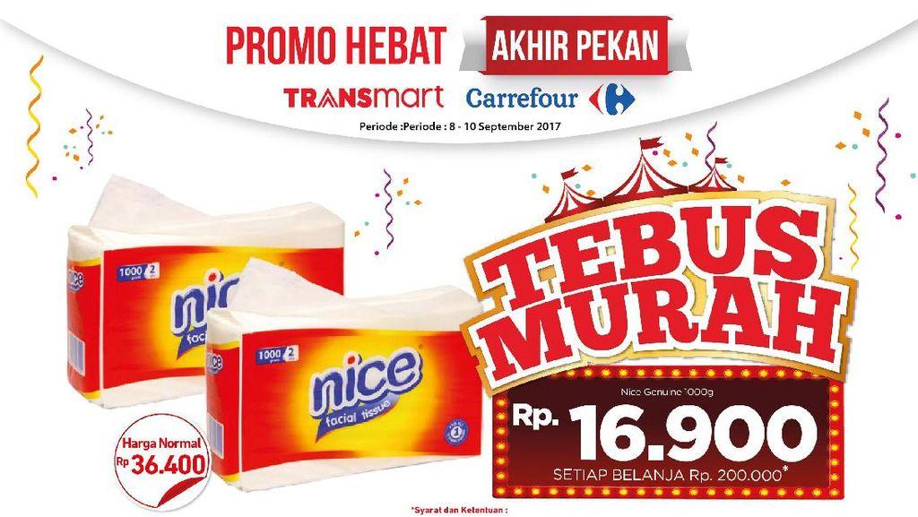 Tebus Murah Tissue Nice di Promo Akhir Pekan Transmart dan Carrefour
