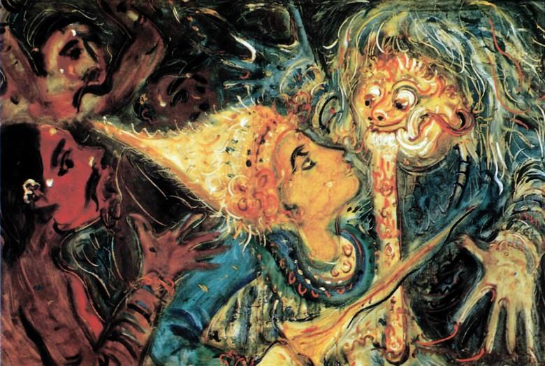Lukisan Calon Arang I Nyoman Gunarsa Kerap Dibawa Pameran Keliling
