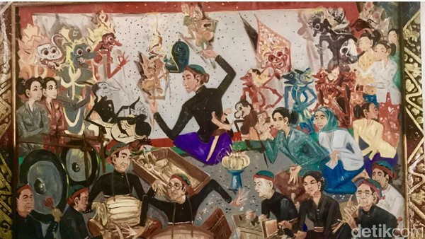 Lukisan Terakhir I Nyoman Gunarsa Sebelum Meninggal Dunia