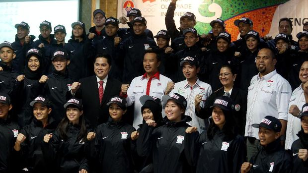 Menpora melepas atlet ke ajang Asian Indoor and Martial Art Games