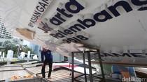 Dihantam Angin, Baliho Asian Games di HI Roboh