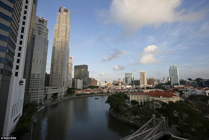 Lokasi yang sama kini sudah berubah total dengan beberapa gedung pencakar langit. Foto: Reuters
